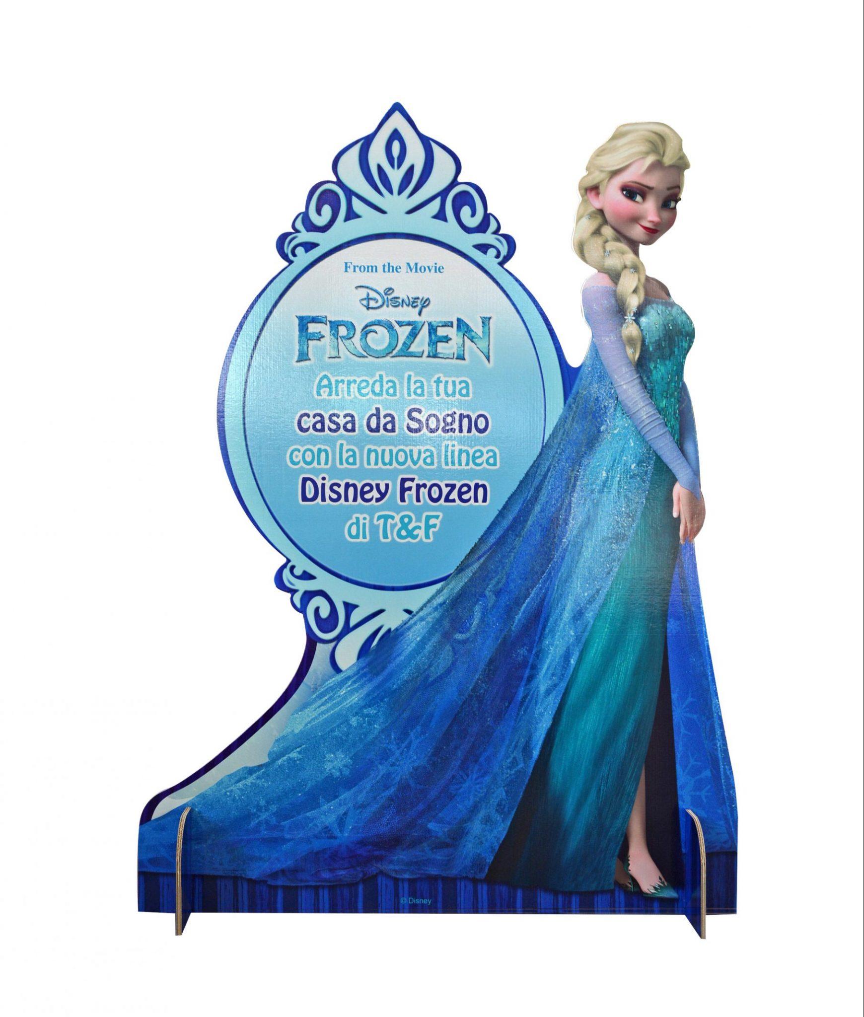 Cartello sagomato con piedi Frozen