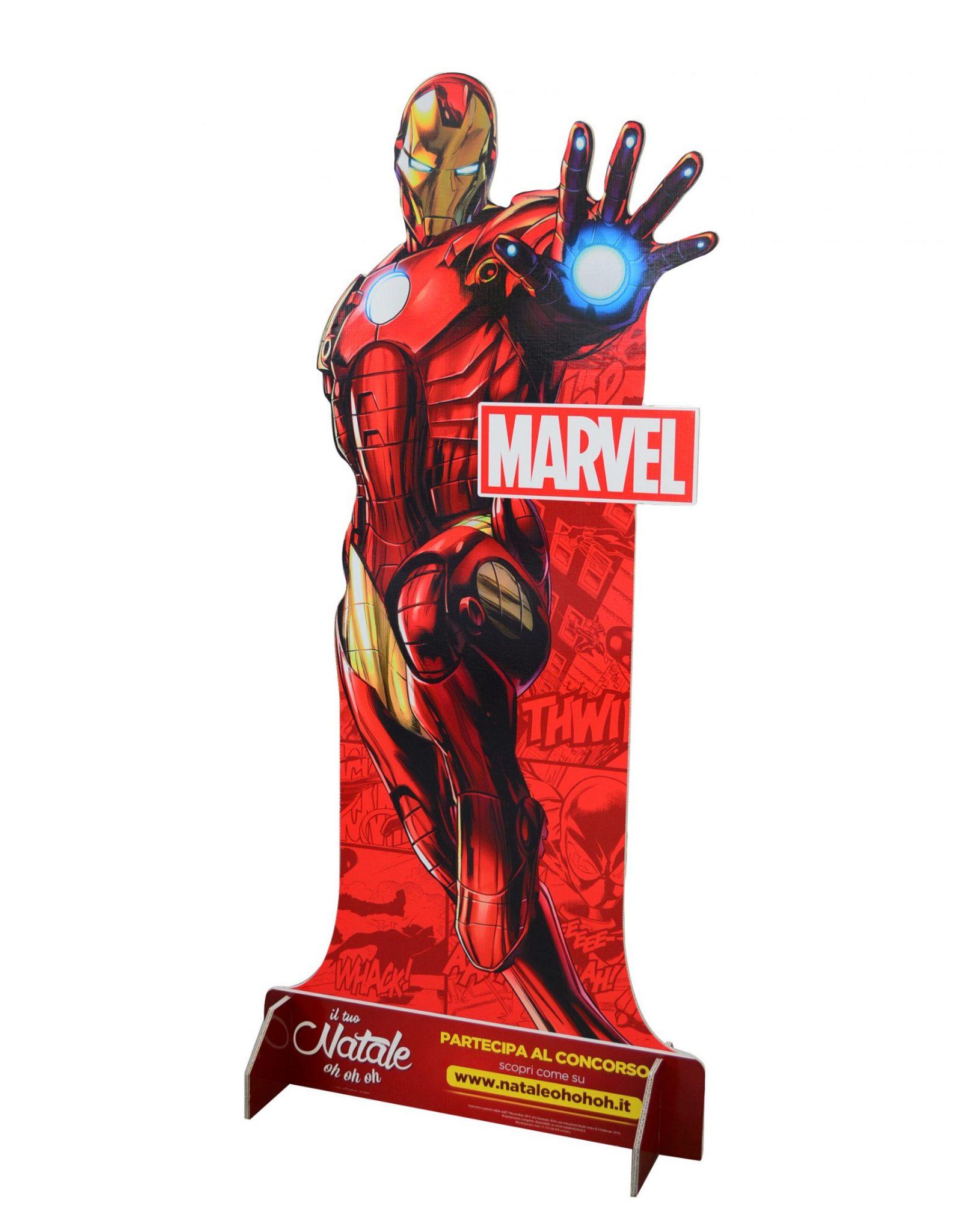 Cartello sagomato con piedi Iron Man
